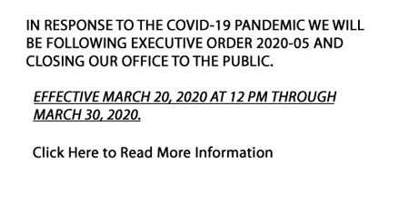 IN RESPONSE TO THE COVID-19 PANDEMIC WE WILL BE FO